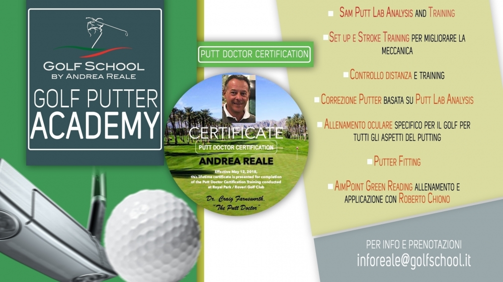 Golf Putter Academy - Golf School by Andrea Reale